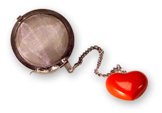 Heart Infuser : Gourmet Coffee Tea Espresso Gifts by BocaJava :  tea wire mesh mesh basket drink