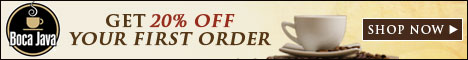 Save 20% on all orders.  Shop Now at BocaJava.com